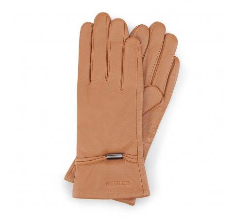 Rękawiczki damskie, camelowy, 39-6-558-LB-V, Zdjęcie 1