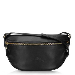 Damska torba nerka ze skóry, czarny, 16-3-007-1, Zdjęcie 1