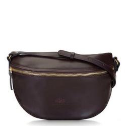 Damska torba nerka ze skóry, bordowy, 16-3-007-2, Zdjęcie 1