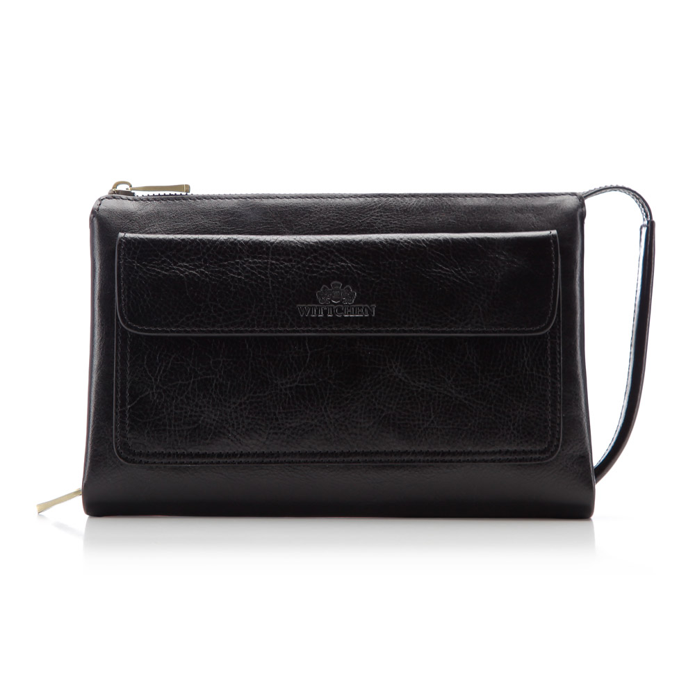 Luxusná príručná taška v čiernom prevedení.
