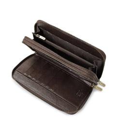 Wrist bag, brown, 21-3-120-4, Photo 1