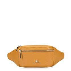 Damska torebka nerka ze skóry, żółty, 92-4E-301-5, Zdjęcie 1