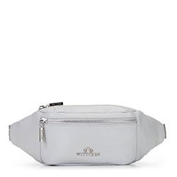 Damska torebka nerka ze skóry, jasny szary, 92-4E-301-8, Zdjęcie 1