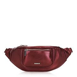 Damska torebka nerka o szerokim froncie, wiśniowy, 91-4Y-307-3M, Zdjęcie 1