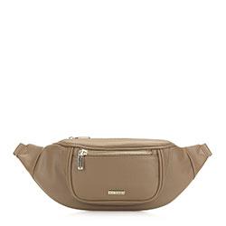 Damska torebka nerka o szerokim froncie, beżowy, 91-4Y-307-9, Zdjęcie 1