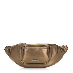 Damska torebka nerka o szerokim froncie, złoty, 91-4Y-307-G, Zdjęcie 1