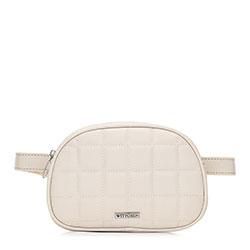 Damska torebka nerka pikowana, kremowy, 91-4Y-308-0, Zdjęcie 1