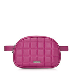 Women's quilted waist bag, pink, 91-4Y-308-P, Photo 1