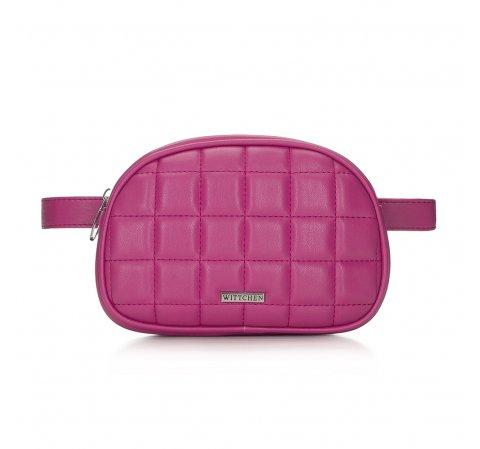 Damska torebka nerka pikowana, różowy, 91-4Y-308-P, Zdjęcie 1