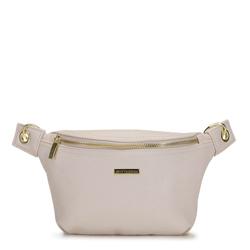 Damska torebka nerka na karabińczykach, kremowy, 92-4Y-227-0, Zdjęcie 1