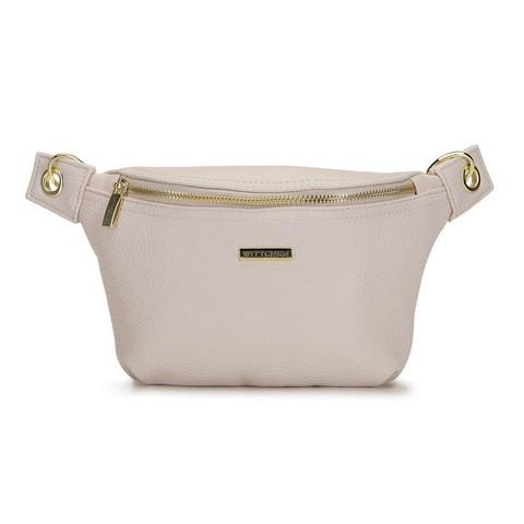 Damska torebka nerka na karabińczykach, kremowy, 92-4Y-227-1, Zdjęcie 1