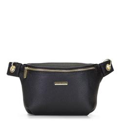 Damska torebka nerka na karabińczykach, czarny, 92-4Y-227-1, Zdjęcie 1