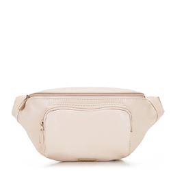 Damska torebka nerka ze skóry ekologicznej, beżowy, 92-4Y-307-0, Zdjęcie 1