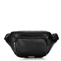 Damska torebka nerka ze skóry ekologicznej, czarny, 92-4Y-307-1, Zdjęcie 1