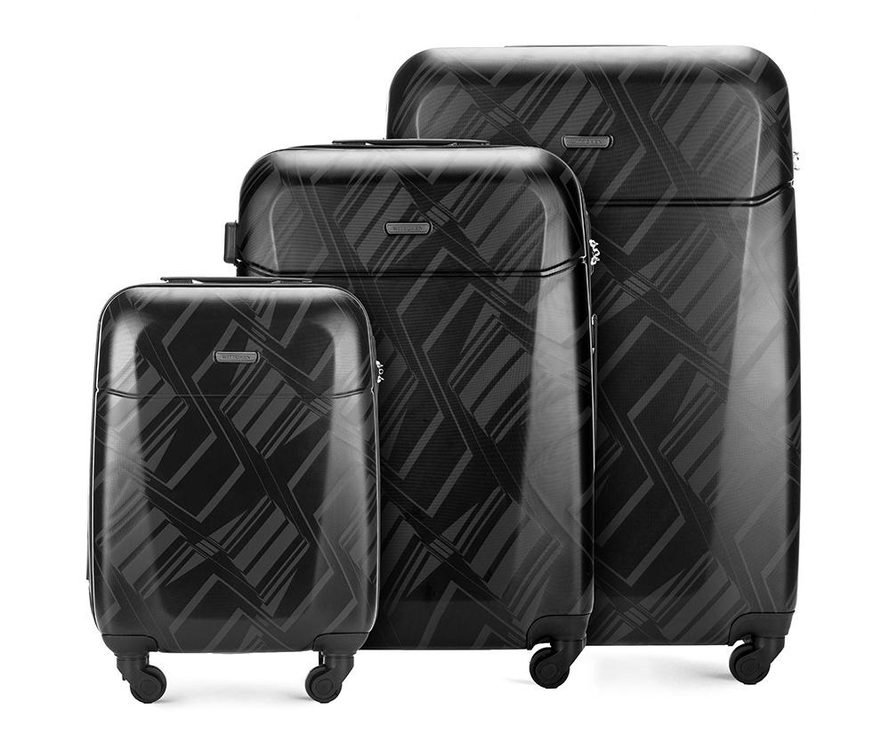 Комплект чемодановКомплект чемоданов<br><br>секс: унисекс<br>Цвет: черный<br>материал:: Поликарбонат<br>высота (см):: 55 - 66 - 76<br>ширина (см):: 37 - 46 - 52<br>глубина (см):: 20 - 26 - 28<br>размер:: комплект<br>объем (л):: 33 - 65 - 91<br>вес (кг):: 2.6 - 3.7 - 4.5<br>Комплекты: так