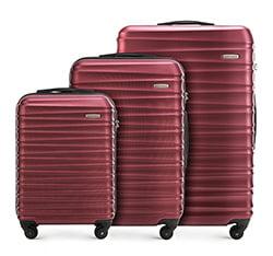 Zestaw walizek, bordowy, 56-3A-31S-30, Zdjęcie 1