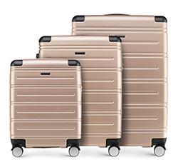 Zestaw walizek, szampański, 56-3A-44S-85, Zdjęcie 1
