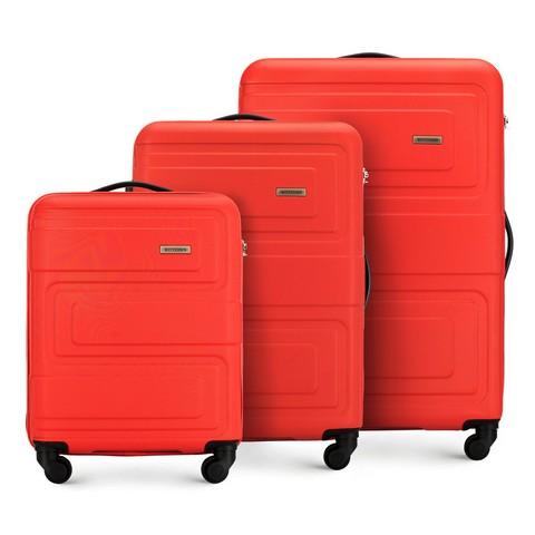 Набор красных чемоданов ABS<