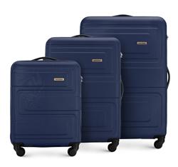 Zestaw walizek, granatowy, 56-3A-63S-90, Zdjęcie 1