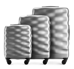 Luggage set, silver, 56-3H-56S-00, Photo 1