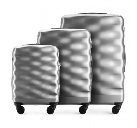 Zestaw walizek, srebrny, 56-3H-56S-00, Zdjęcie 1