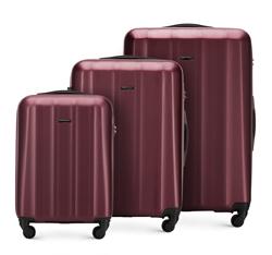 Zestaw walizek, bordowy, 56-3P-11S-35, Zdjęcie 1