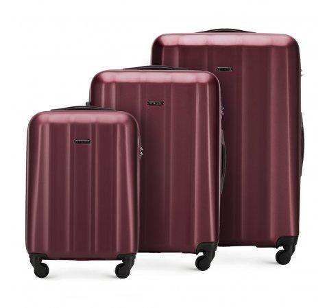 Zestaw walizek, bordowy, 56-3P-11S-90, Zdjęcie 1