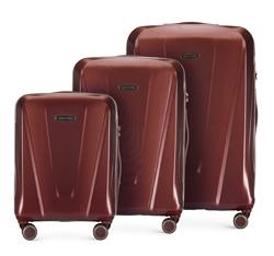 Zestaw walizek, bordowy, 56-3P-12S-35, Zdjęcie 1