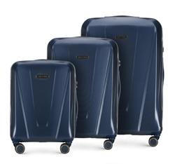 Zestaw walizek, granatowy, 56-3P-12S-90, Zdjęcie 1