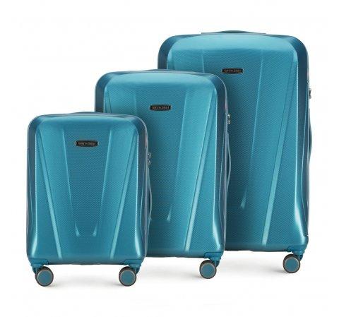 Zestaw walizek, niebieski, 56-3P-12S-35, Zdjęcie 1