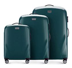 Zestaw walizek, zielony, 56-3P-57S-85, Zdjęcie 1