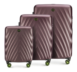 Zestaw walizek, fioletowy, 56-3P-80S-44, Zdjęcie 1