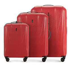 Комплект чемоданов Wittchen 56-3P-96S-65, кирпичный 56-3P-96S-65