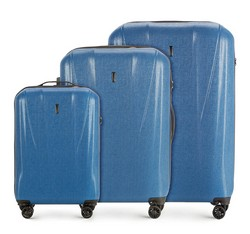 Комплект чемоданов Wittchen 56-3P-96S-90, голубой 56-3P-96S-90