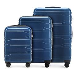Zestaw walizek, granatowy, 56-3P-98S-90, Zdjęcie 1