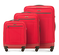 Luggage set, red, 56-3S-51S-30, Photo 1