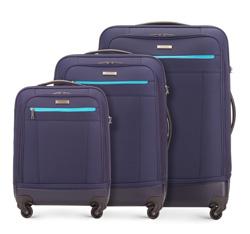 Zestaw walizek, chabrowy, 56-3S-51S-90, Zdjęcie 1