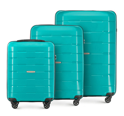 Zestaw walizek, turkusowy, 56-3T-72S-85, Zdjęcie 1