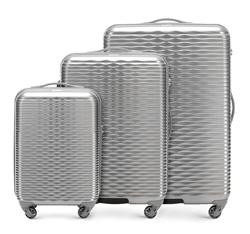 Комплект чемоданов Wittchen 56-3H-52S-00, серебряный 56-3H-52S-00