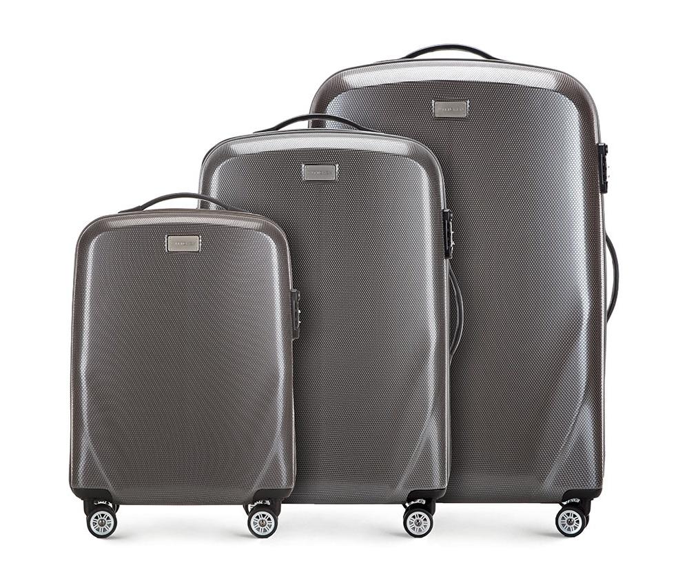 Купить Комплект чемоданов из поликарбоната Wittchen, Германия, серый