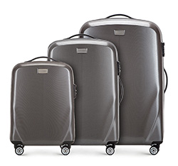 Luggage set, silver, 56-3P-57S-70, Photo 1