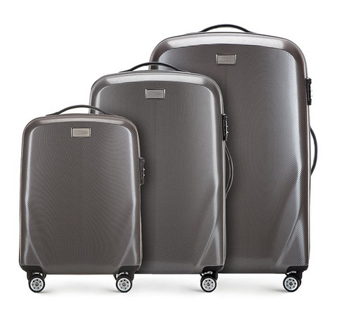 Zestaw walizek, szary, 56-3P-57S-85, Zdjęcie 1