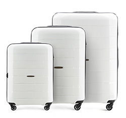 Zestaw walizek, biały, 56-3T-72S-88, Zdjęcie 1