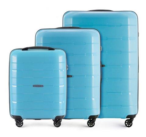 Zestaw walizek, błękitny, 56-3T-72S-90, Zdjęcie 1