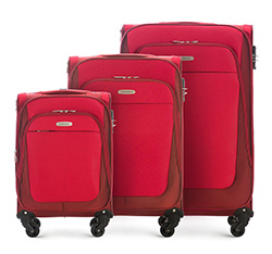 Luggage set, red, 56-3S-48S-30, Photo 1
