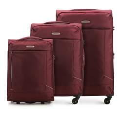Zestaw walizek, bordowy, 56-3S-47S-35, Zdjęcie 1