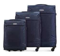 Комплект чемоданов Wittchen 56-3S-47S-90, синий 56-3S-47S-90