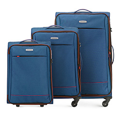 Zestaw walizek, niebieski, 56-3S-46S-90, Zdjęcie 1