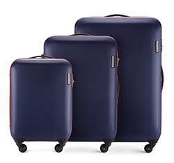 Zestaw walizek, granatowy, 56-3-61S-90, Zdjęcie 1