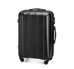 Zestaw walizek z polikarbonu fakturowanych, czarny, 56-3P-11S-10, Zdjęcie 1